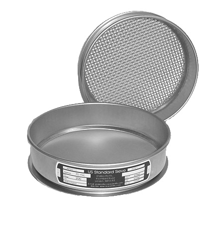 "CSC 8"" Stainless Steel Sieve 300 micron or #50"
