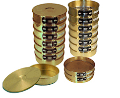 "[A008BAW.045] CSC 8"" Brass ASTM Sieve 45 micron or #325"