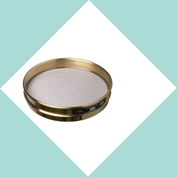 "[008BAW9.50H] 8"" Brass H/H ASTM Sieve 9.50mm or 3/8 inch"